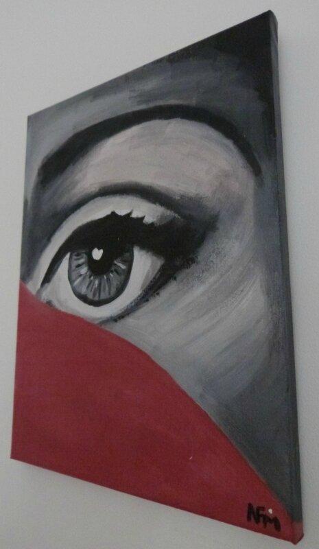 Tableau Oeil- NFM- Fornasetti style Dresu (2)