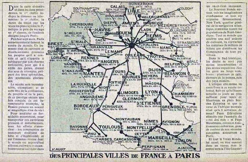 Pricipales villes de Paris