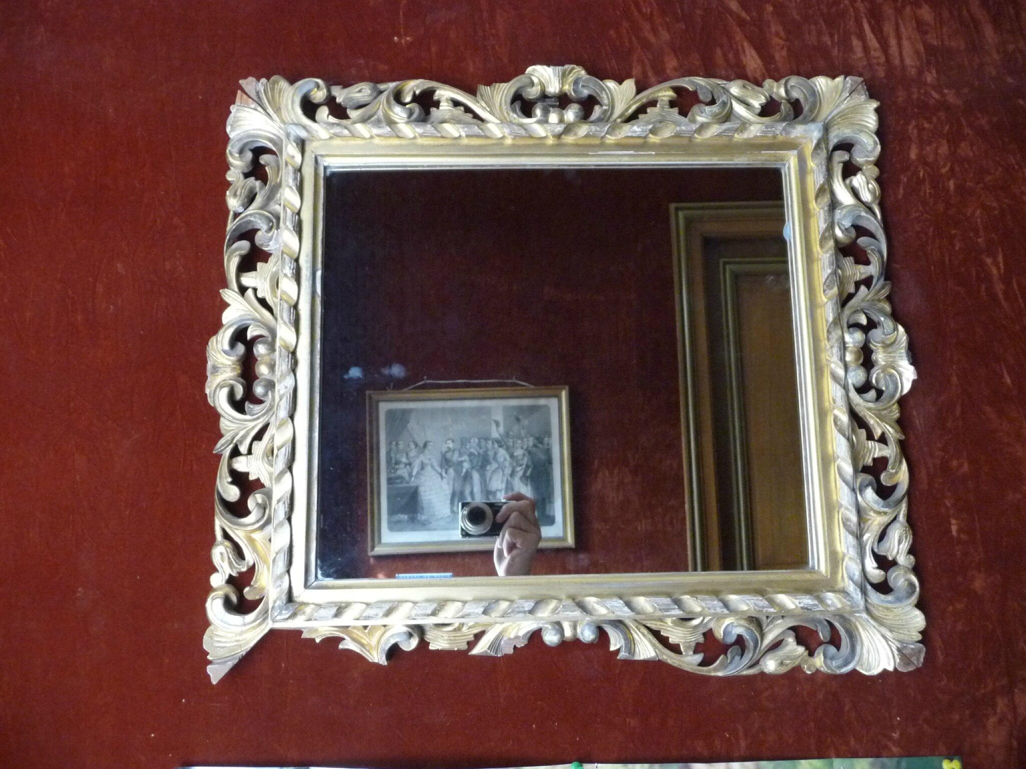 Miroir florentin de fabrication anglaise damien de laage for Fabrication de miroir