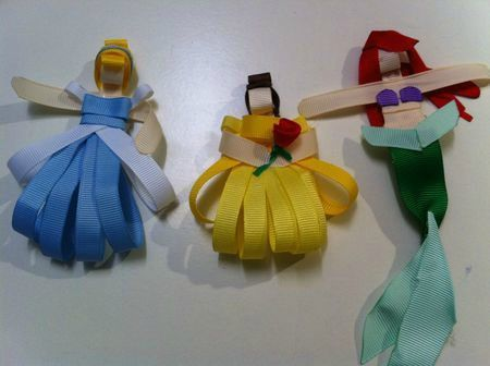 ribbon hair clips instructions