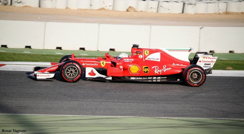 2017-Barcelone test-SF70H_Vettel