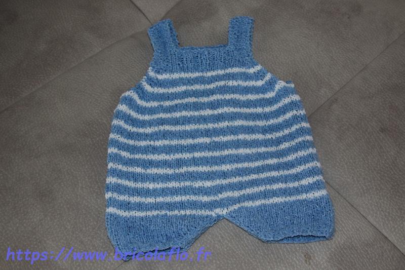 combi-short 3mois bleu d