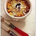 Gratin de butternut, quinoa souffl, chvre frais, cumin