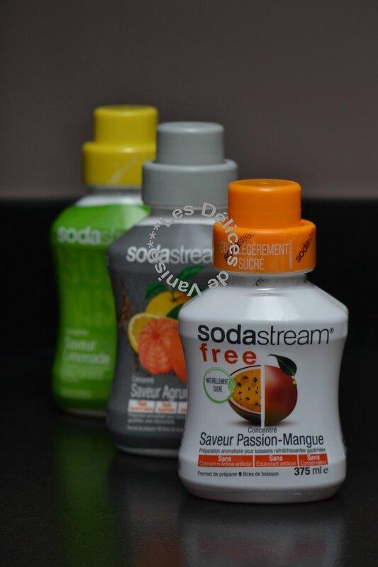concentré boisson sodastream, soda maison, gaz alimentaire