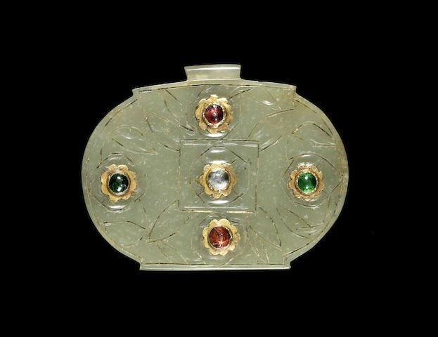 An Ottoman gold-mounted jade Pendant, Turkey, 17th Century