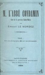 abbé Condamin Ernest Le Nordez