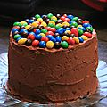 Layer cake aux m&m's