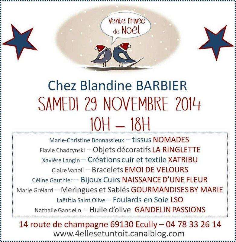 Vente privée Blandine Barbier 29 11 2014