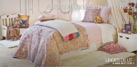 linge de lit enfant zara home Zara home collection kids : de la déco pour enfant made by Zara à  linge de lit enfant zara home