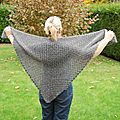 Half Granny Square Shawl