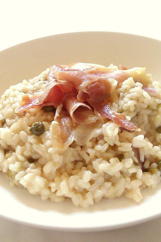 risotto au jambon cru et aux câpres2