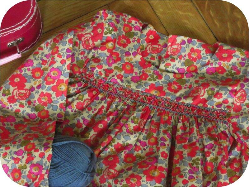 Détail empiècement blouse Agnès