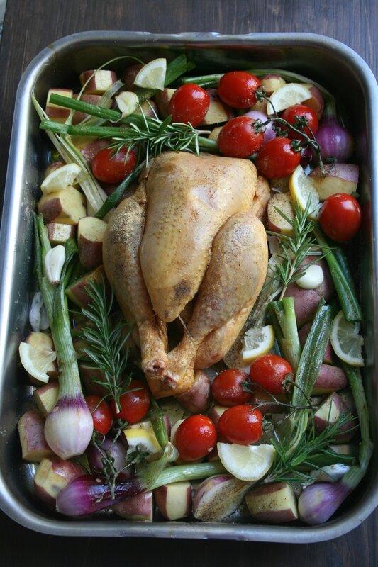 Poulet rôti du printemps - Passion culinaire Minouchka 1