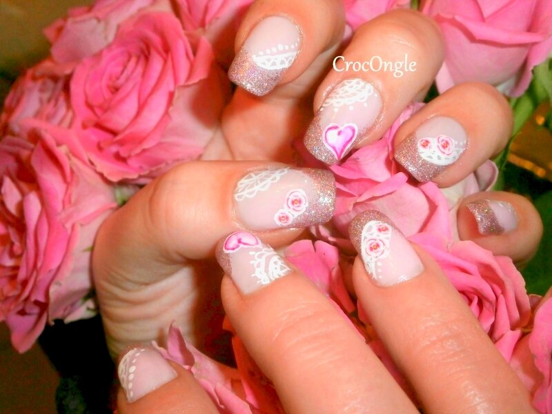 Nail ART St Valentin CrocOngle