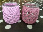 photophores crochet phil coton 3 guimauve et phildar