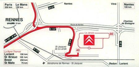 © 1992 François-Noël TISSOT Une Identité Pour Demain ® Rennes la Janais PSA CITROEN Orientation des Livraisons vers le site