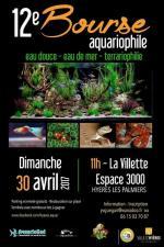 Affiche 12em bourse aquariophile et terrariophile Hyeres les palmiers 2017