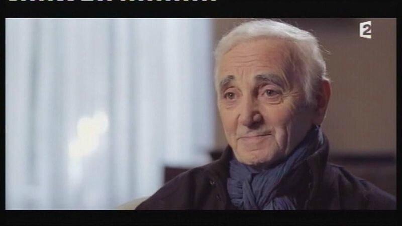 le 07 janvier 2014 Johnny et Aznavour sur l'A2 (3)