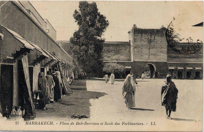 27LL-CP M'Kech ancien_Place des Ferblantiers 03