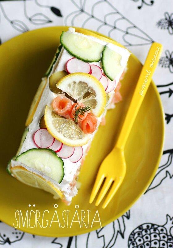 smörgastarta, gâteau de pain à la suédoise - Swedish savoury loaf cake