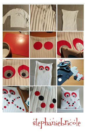 tuto diy stephaniebricole, stephanie granval, diy owl pillow