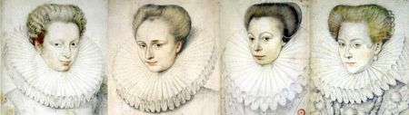 Fraise godronnée classique des années 1580