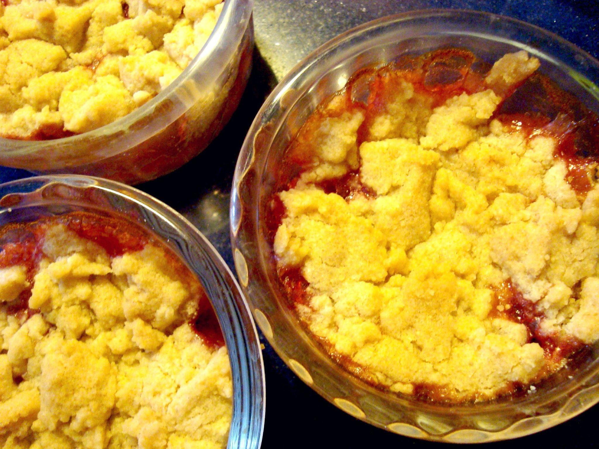 crumble pomme fraise sans beurre c