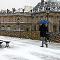 Paprapluies, Pont des arts, Neige_7685