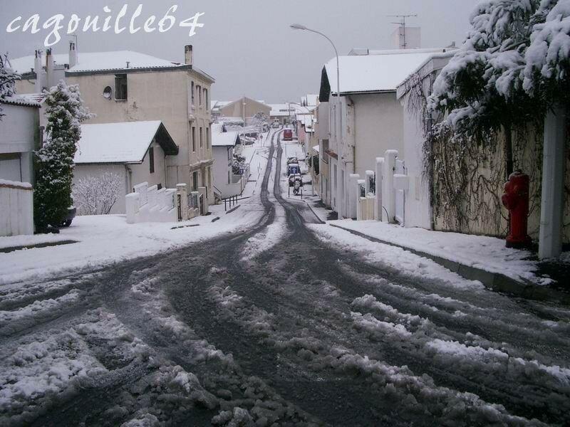 Biarritz sous la neige le 25 01 07 mes news entre vous et moi - Bureau de poste biarritz ...