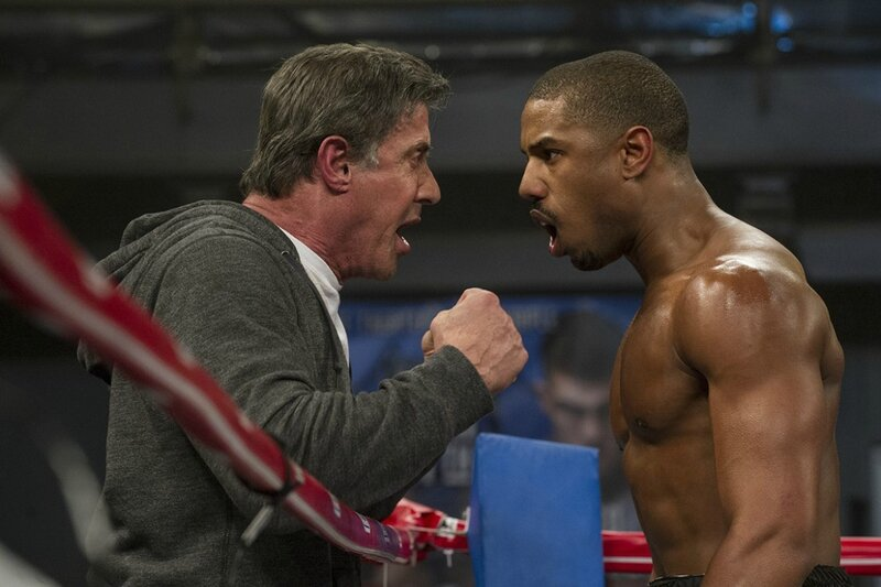 Rocky Balboa et Adonis Johnson sur le Ring