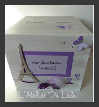 urne de mariage sur paris