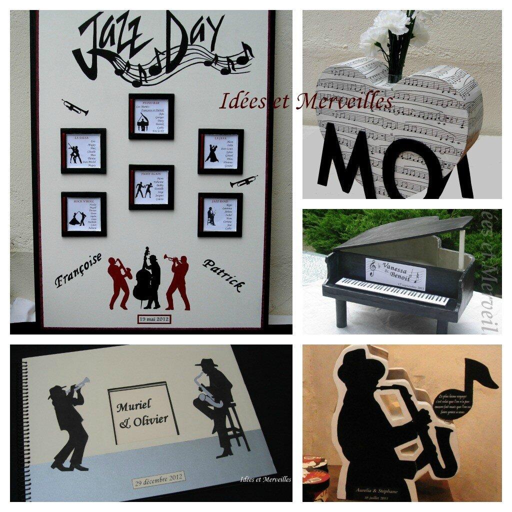 les d corations sur le th me de la musique idees et merveilles. Black Bedroom Furniture Sets. Home Design Ideas