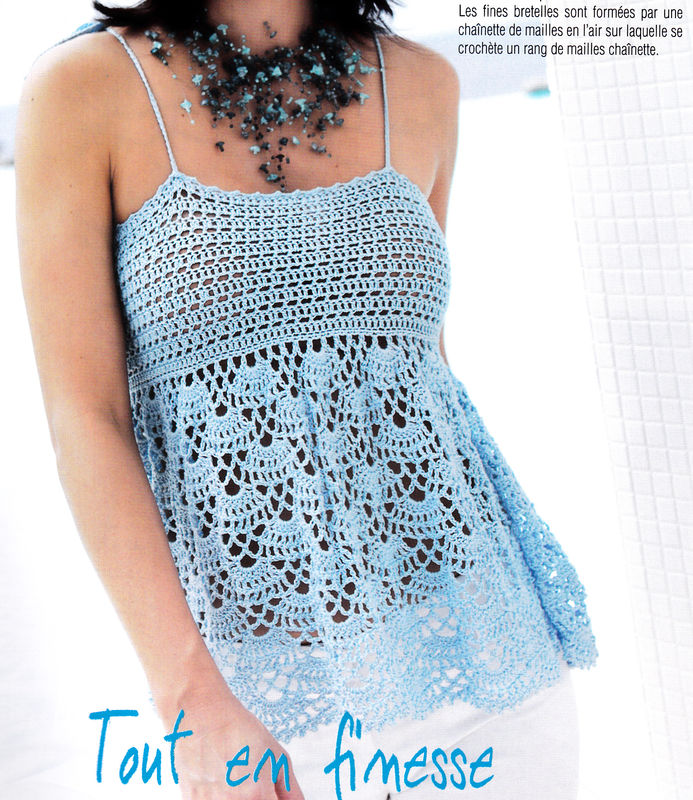Crocheting On Top Of Crochet : TOP au crochet - Crochet et Compagnie by Lucile