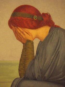 Femme triste (A