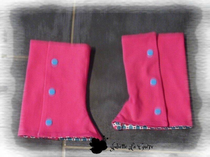 Gourmande legging guêtres rose bleu jean11