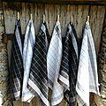 torchons métis noir et blanc