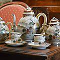 Service à thé ancien -porcelaine fine japon