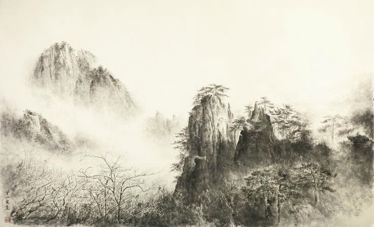 Zeng Xiaojun (b. 1954), Yellow Mountain I