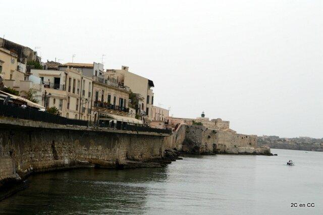 Vue sur la pointe de l'île - Ortigia -Syracuse - Sicile