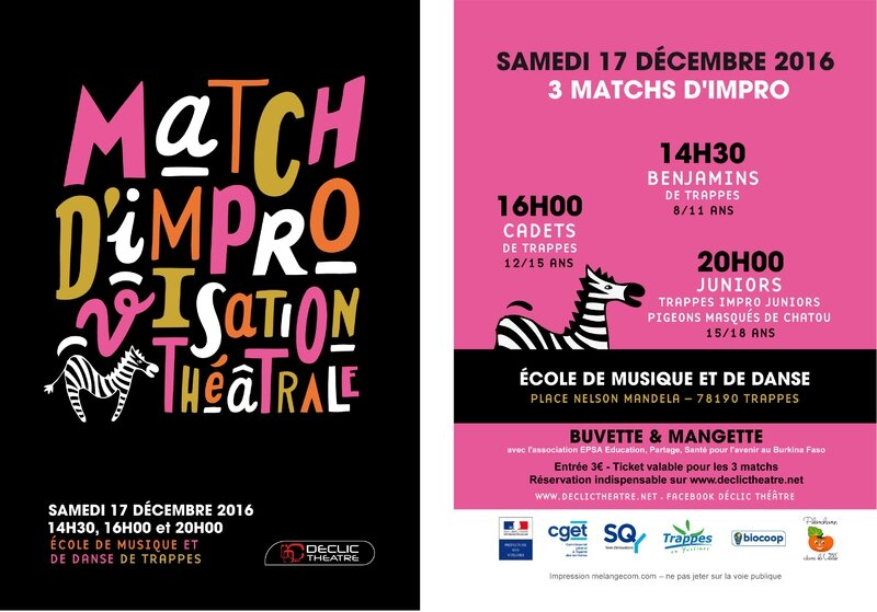 declic theatre flyer matchs 17122016
