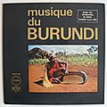 Musique du burundi, collection ocora, lp, 1968