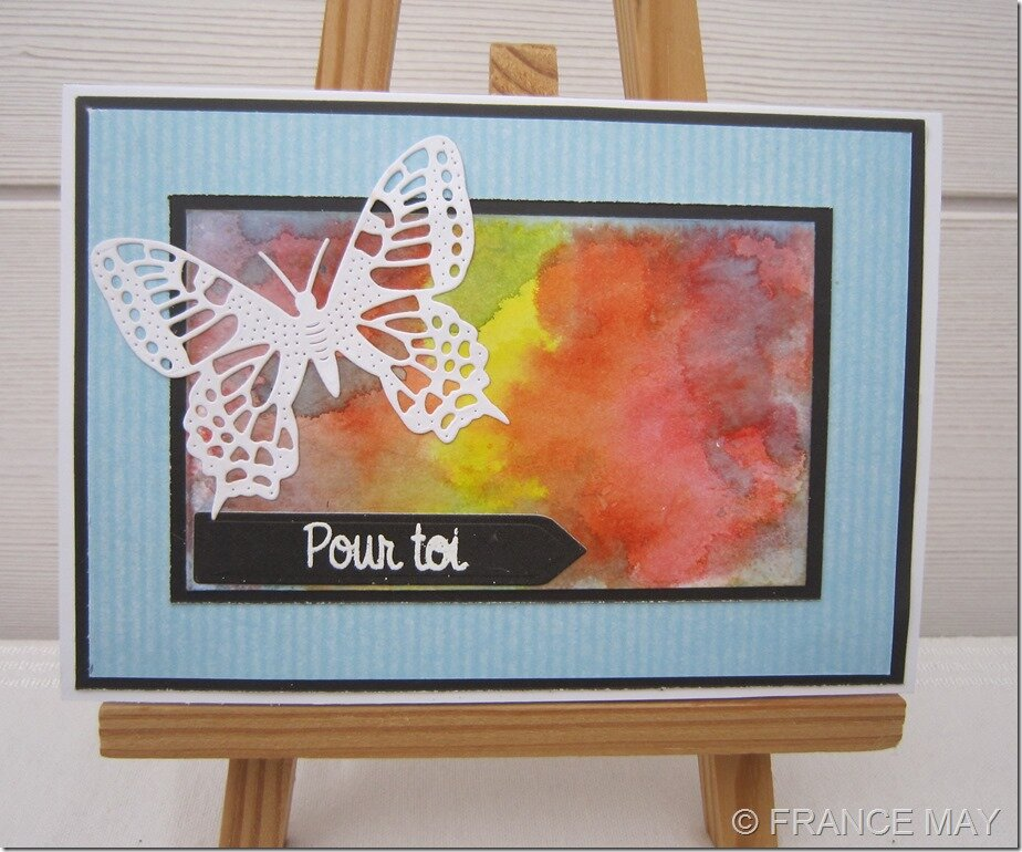 CARTE PAPILLON AQUARELLEE