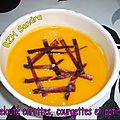 Velouté carotte, courgette et potiron