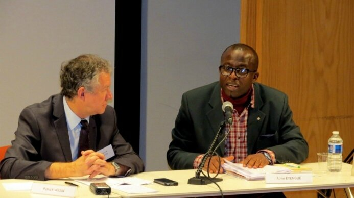 Photo Aimé Eyengué au colloque