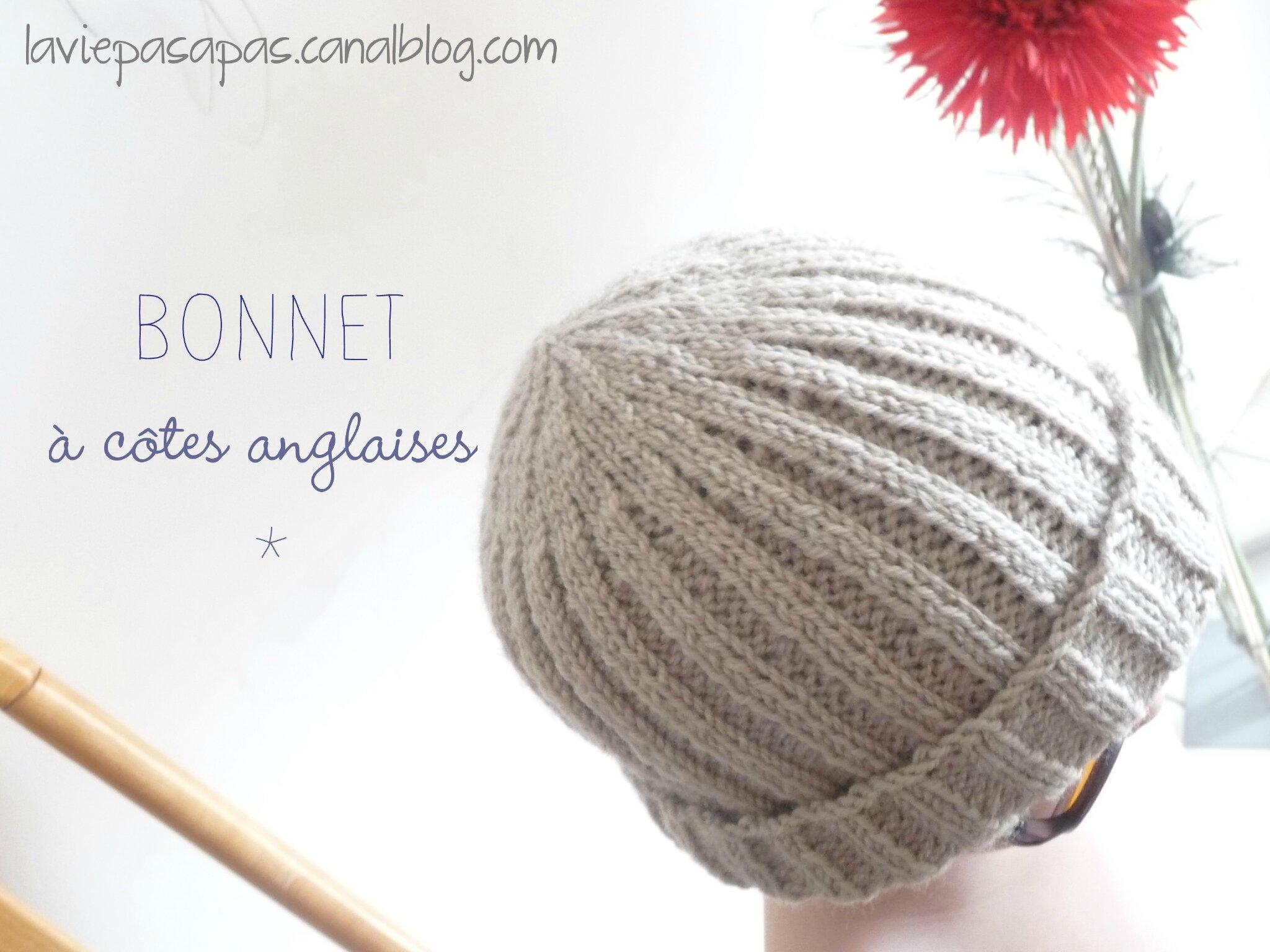 >> Bonnet à côtes, modèle BdF