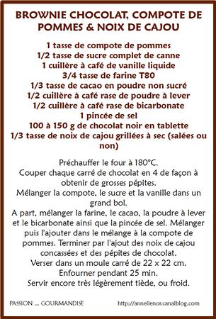 Brownie chocolat, compote de pommes & noix de cajou_fiche