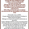 Brownie chocolat & noix de cajou léger et très raisonnable ...