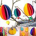 ¨°o.o œufs de pâques en millefeuille de papiers colorés / paper easter colored eggs o.o°¨