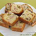 Cake au jambon et aux olives vertes
