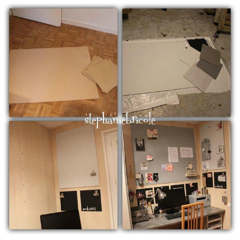 Fabriquer soi m me un bureau en bois st phanie bricole for Idee deco bureau